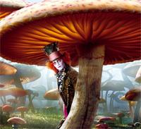 Джонни Депп в роли Безумного шляпника