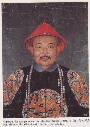 Давачи. Последний правитель Джунгарского государства. После пленении был доставлен в Пекин, но там удостоился особой милости императора Цяньлуна, получил титул Цин-ван самый высокий в иерархии цинской аристократии и проживал в Пекине.