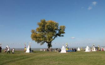 В Калмыкии состоялось открытие 8 буддийских ступ у Одинокого тополя